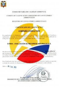 Certificado MAE 2013