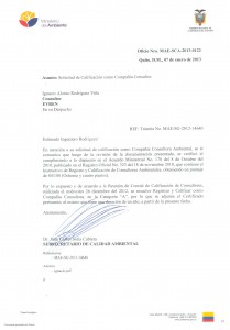 Resolucion Certificado MAE 2013